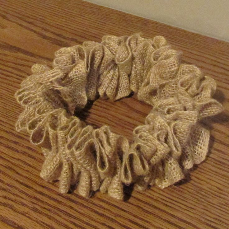Burlap Candle Ring, Primitive Burlap Candle Ring, Rustic Burlap Candle Ring…