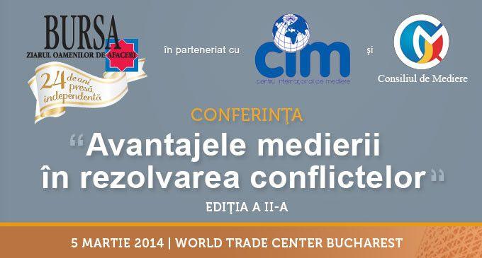 """Conferinţa """"Avantajele medierii în rezolvarea conflictelor"""""""
