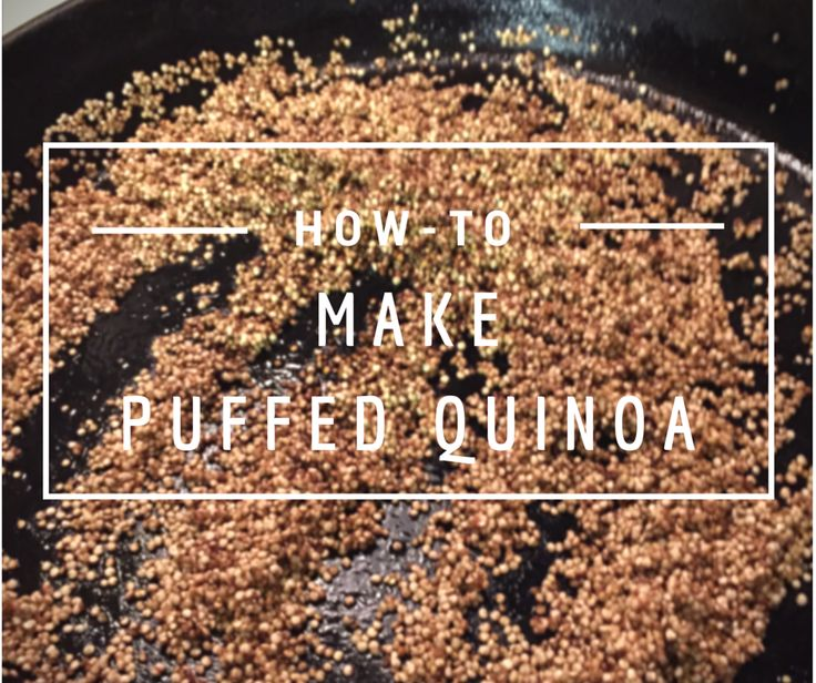 I've been meaning to try my hand at making my own puffed quinoa for a while, to use as an alternative to rice krispies or oats in my baking. I finally had the perfect chance on a rainy, miserable day when I was stuck in the house with the kids and we were