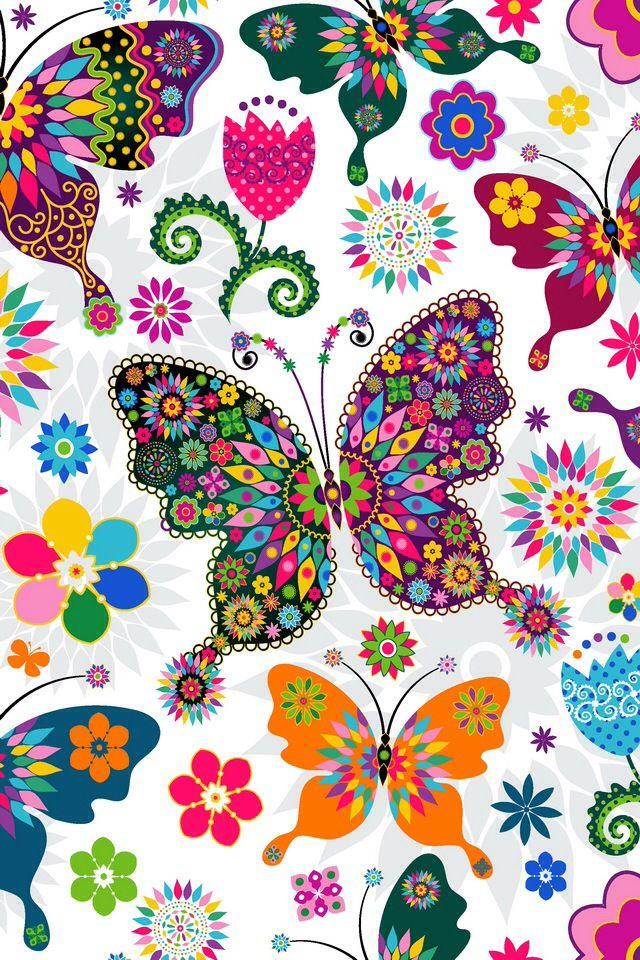 Flores, cores e borboletas a rodar...