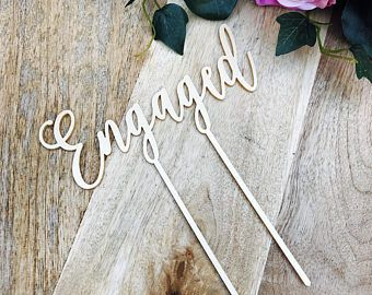 Engaged cake topper by Sugarboo personalized cake toppers we are engaged Cake Topper Cake Decoration Cake Decorating Engagement Cake CHLT