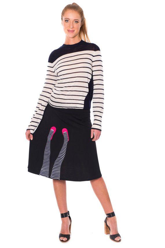 Damen süße Röcke Damen Röcke Midi-Rock schwarz von Zoeslollipop