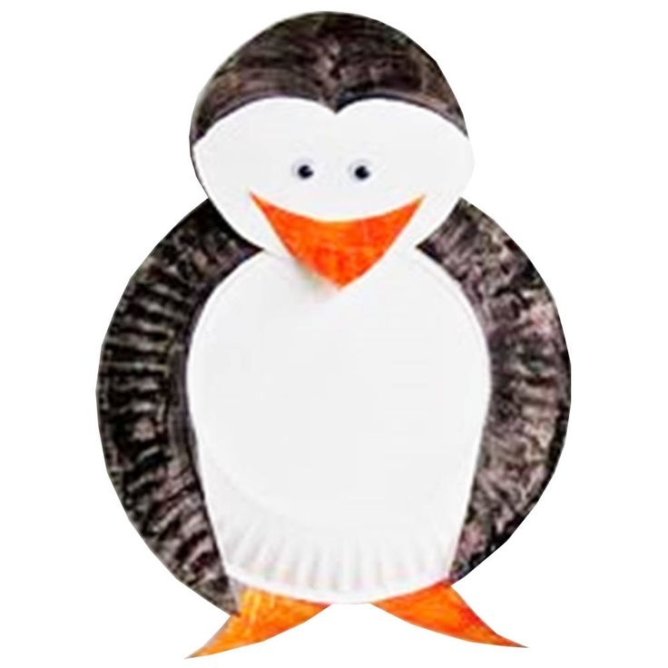 Preschool Crafts for Kids*: Penguin Paper Plate Craft