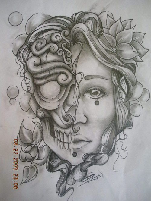 45 best images about life after death skull tattoos on pinterest. Black Bedroom Furniture Sets. Home Design Ideas