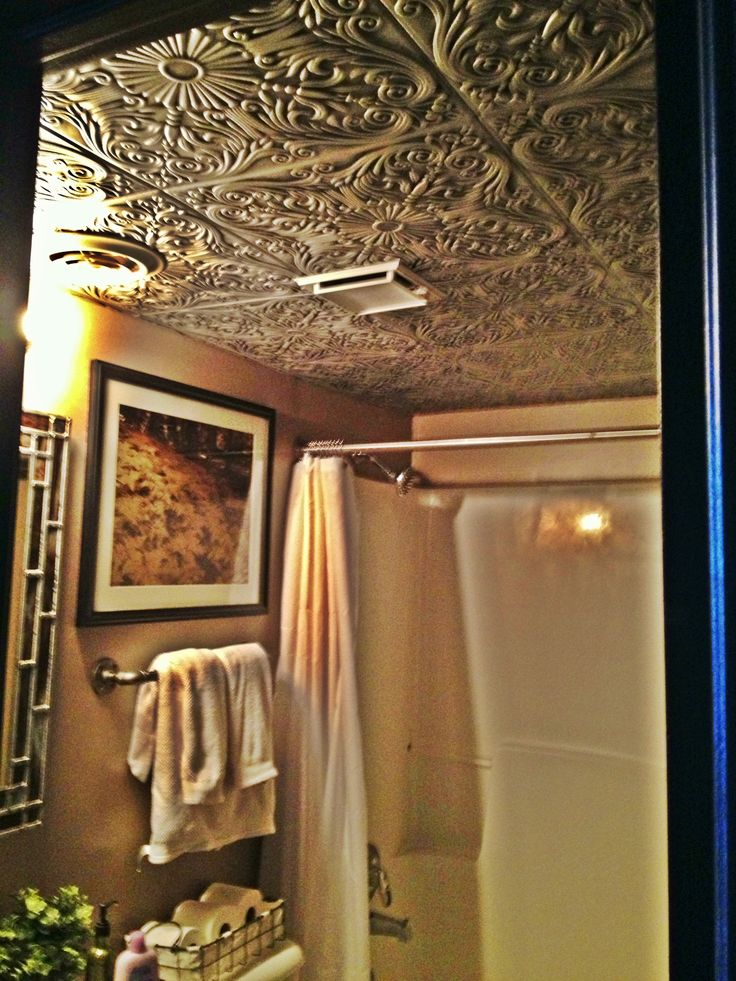 Tin ceiling bathroom