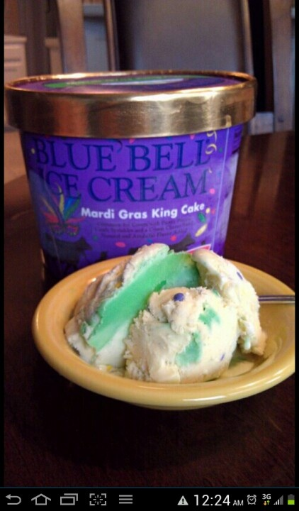 Blue Bell King Cake Ice Cream