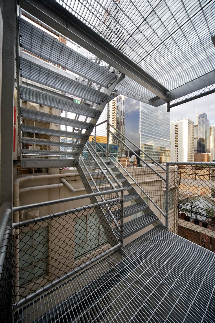 Stair - Rooftop Cinema & Bar, Curtin House, Melbourne By Grant Amon Architects