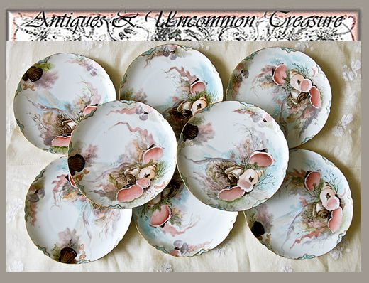 Set of 8 Haviland Limoges Plates with Pink Sea Life perfect for Shabby Chic decor. & 55 best Fish plates images on Pinterest | Fish plate Dishes and ...