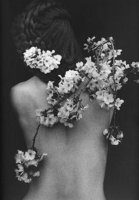 floral | flowers | spring | love | black & white | back | pretty | soft…
