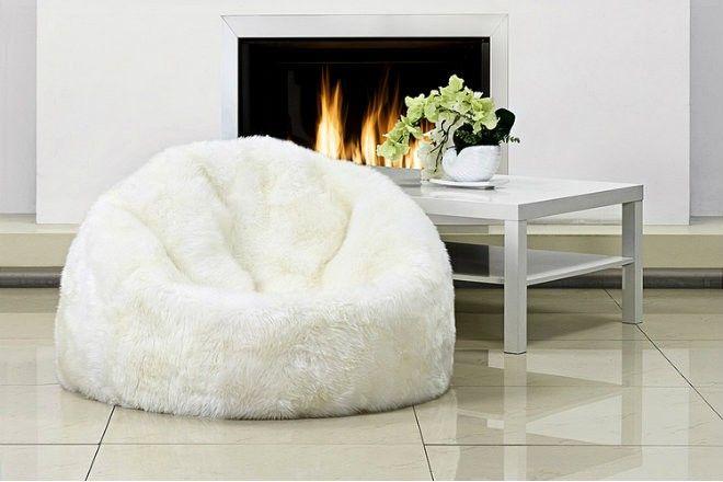 Уютные кресла-мешки из натуральной овчины