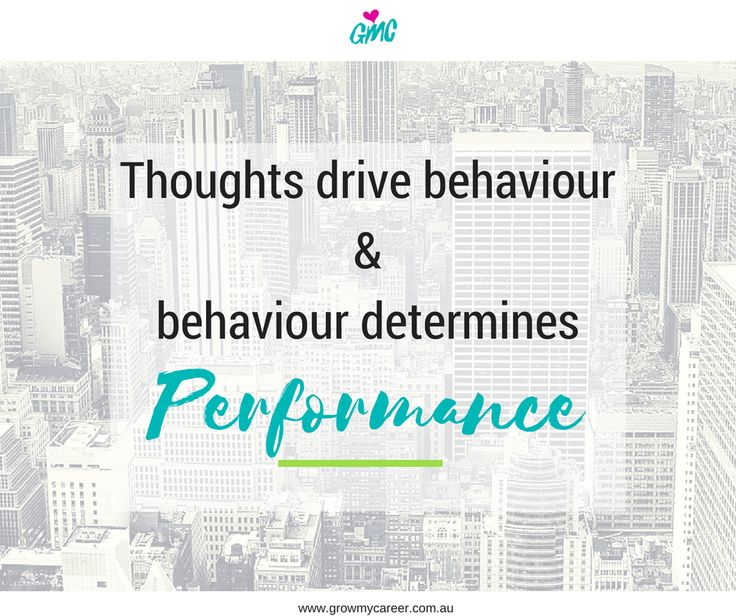 Inspirational quote. Never underestimate the impact our thoughts have on our performance and achievements.