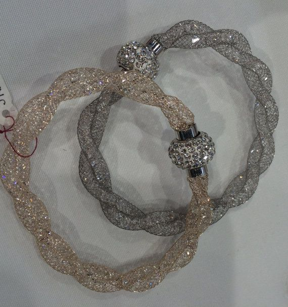 2700,- Crystal Mesh Chain Bracelet with Beads. In by TimelessFashionStore