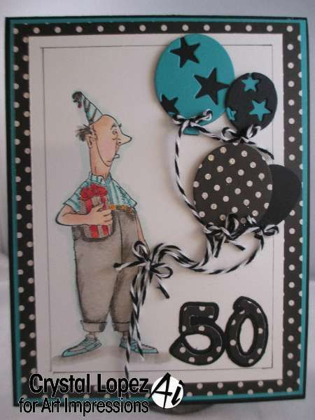 Happy 50th Birthday card , Art Impressions Cliff Ai Golden Oldies