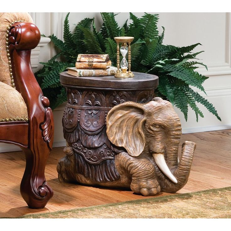 Luxury Sultan of The Sands Persian Elephant Sculptural Side Table Footstool Display eBay