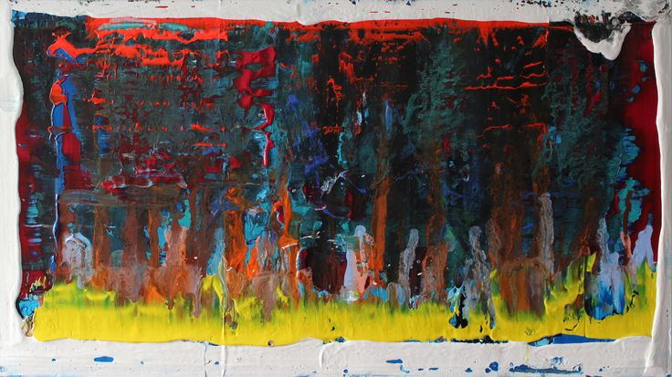 acrylic painting on canvas 100 cm x 70 cm NO.301