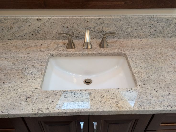 Kohler Ladena Sink : Kohler Ladena sink with Moen Voss Faucet Sagent Builders Bathroom ...