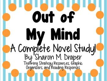 Everything you need for a novel study on Out of My Mind by Sharon M. Draper! There are many ways that you can use these resources. You can copy as an entire packet or you can copy pages individually! This can be for a small book club, or for the whole class!