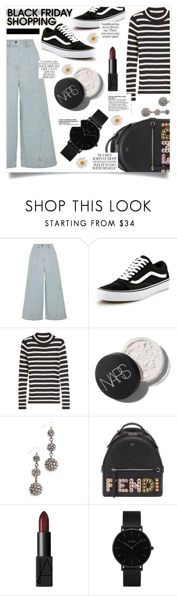 """Black Friday Shopping"" by ifip ❤ liked on Polyvore featuring Ulla Johnson, Vans, Steffen Schraut, Lulu Frost, Fendi and CLUSE"