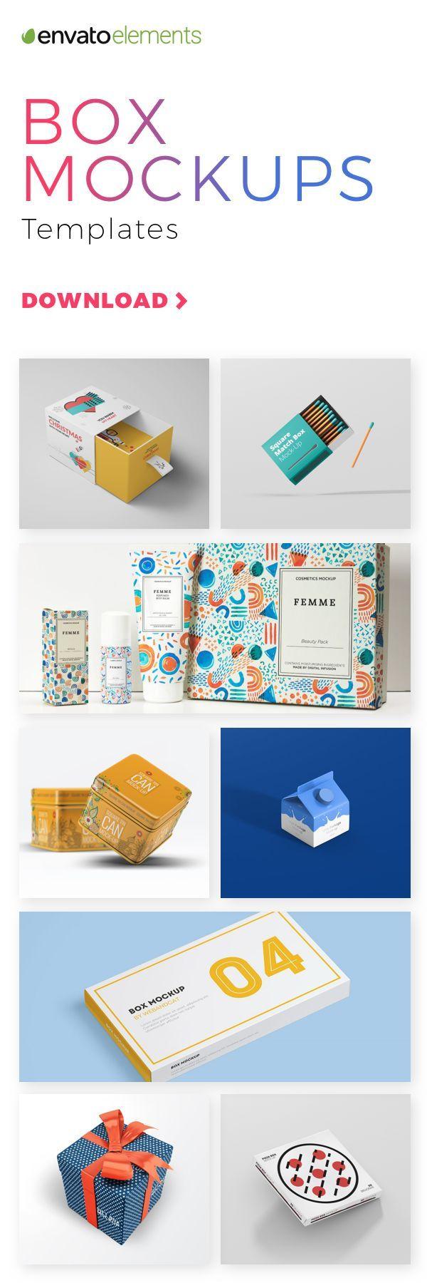 Unlimited Downloads Of 2018 S Best Box Mockups Box Mockup Box Design Box Template