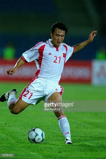 Xu Yulong of China in action during the Asian Cup match against Indonesia played in Tripoli Lebanon Mandatory Credit Ben Radford /Allsport