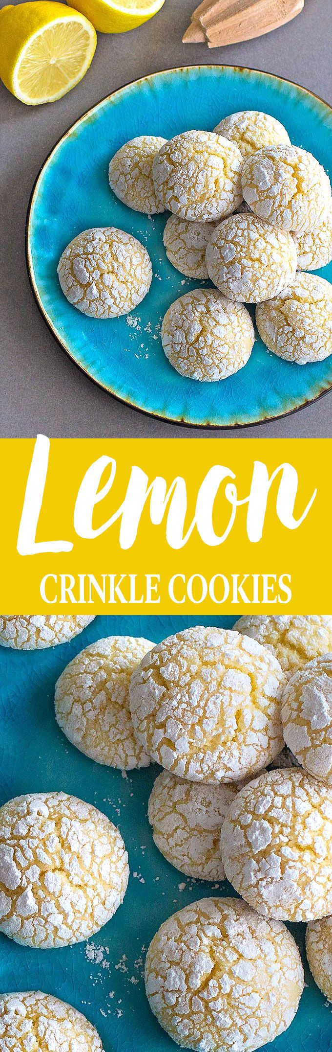 Easy lemon crinkle cookies made from scratch! Slightly crispy on the outside, soft on the inside, each cookie is packed with a delightful lemony flavor! (Easy Baking Recipes From Scratch)
