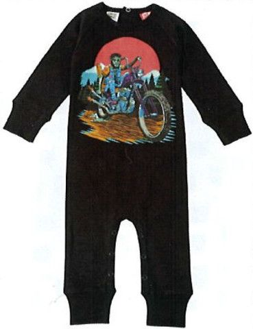 Rock Your Baby Wolf on Bike L/S Playsuit – Sweet Thing Baby & Childrens Wear #Winter #Cloth #Boy sweetthing.com.au