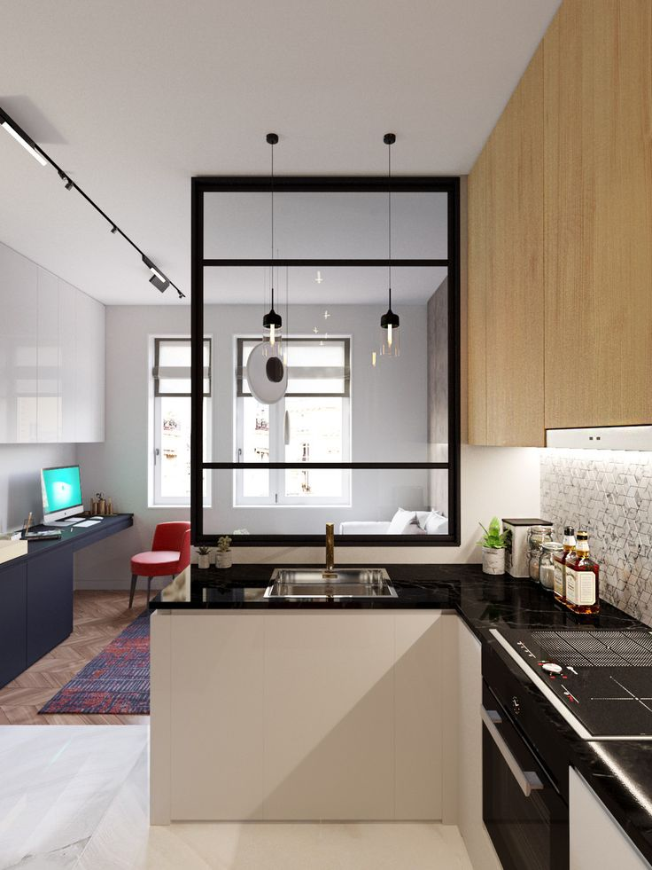 MODERN RED - SMART&MINI. Квартира до 30 кв. метров | PINWIN - конкурсы для архитекторов, дизайнеров, декораторов