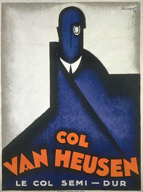 Van-Heusen-1928-Charles-Loupot  This is a detachable collar ad!