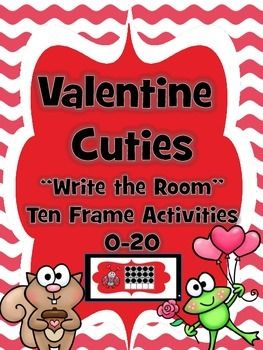 """Looking for a Valentine's Day themed """"Write the Room"""" activity? Well, you have found it! This """"LOVING"""" Ten-Frame Activity is differentiated to allow you to choose either the 0-10 activity or the 11-20 activity. Simply print, trim, post and go!"""
