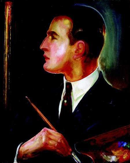 Gustaw Gwozdecki, Self-portrait , 1928