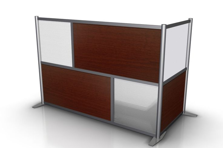 L Shaped Office Partition 75 X 35 X 51 H Cherry Wood