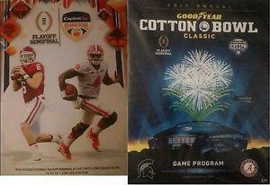 2015 2016 Orange Cotton Bowl Programs Clemson Alabama College Football Playoffs   eBay