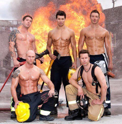 hot firemen model body