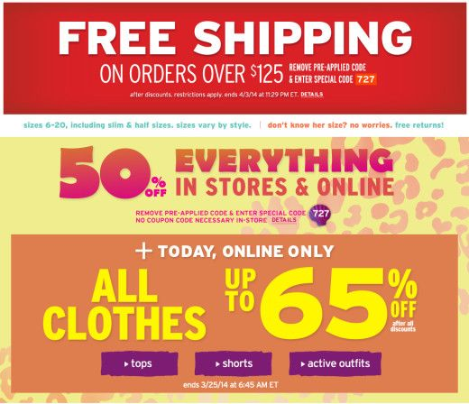 Justice store usa coupons