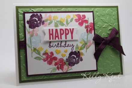 Stampin' Up! Sneak Peak - Painted Petals Stamp Set Heart Wreath, Spring Flowers TIEF & Celebrate Today Stamp Set.  Kelly Kent - mypapercraftjourney.com.