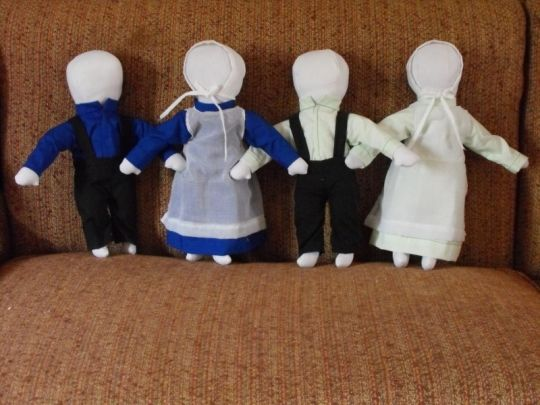 An Amish doll maker