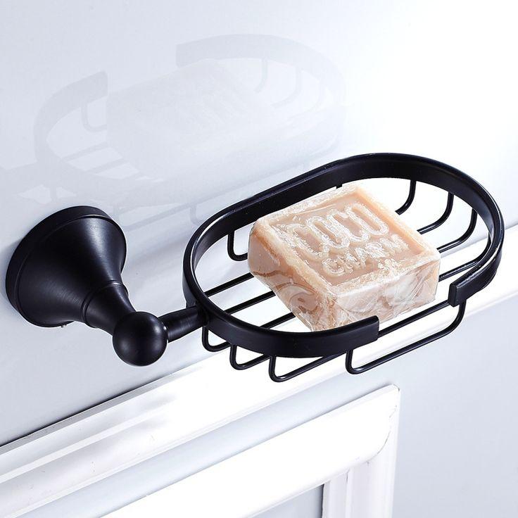 AUSWIND Black Oil Bronze Soap Dish Net Wall Mount Antique Soap Net Brass Bathroom Accessories LQ09