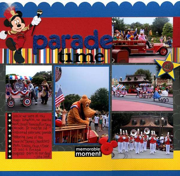 Disney parade: Picture Layout, Disney Parades, Disneyland Scrapbooking, Disney Scrapbook Layouts, Disneyland Scrapbook Layouts, Disney Scrapbooking Layouts, Scrapbooking Layouts Disney, Scrapbooking Disney