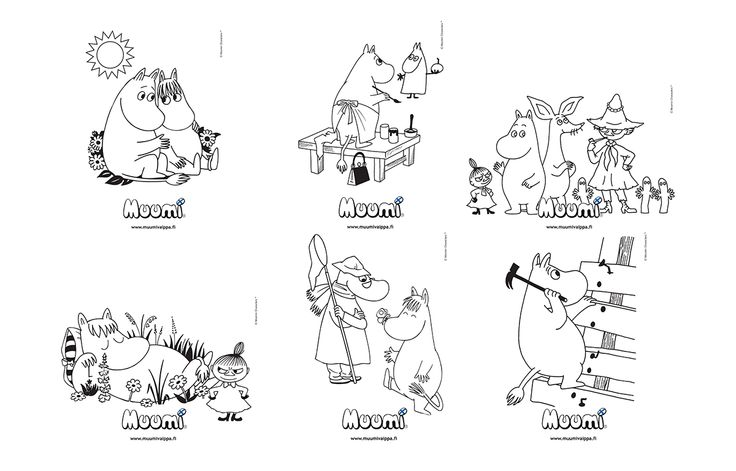 printable moomin troll pictures to color - Google Search