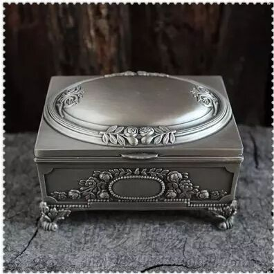 Vintage Retro Metal Petwer Tin Jewelry Gift Box and Packaging Luxury Jewellry Boxes Packing Free Shipping Z008 #Affiliate