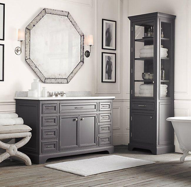 Kent Single Extra Wide Vanity Base Minimalist Bathroom Design