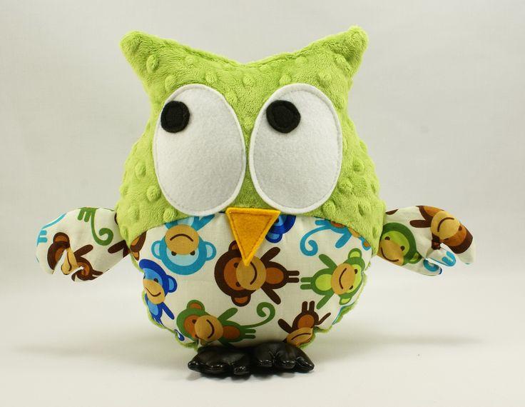 Little Sophie minky owl #littlesophie #monkeys #monkey #jade #minky #minkyowl #sowa #sowy