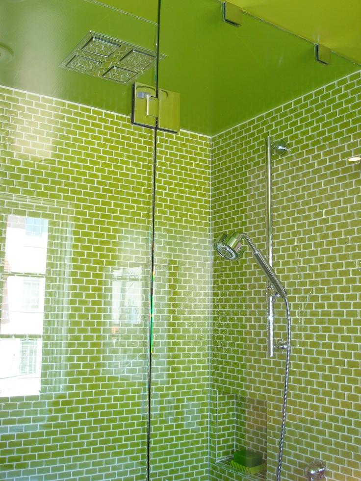 lime green shower