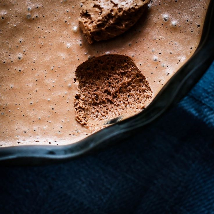 Mousse de Chocolate com a técnica patê a bombe