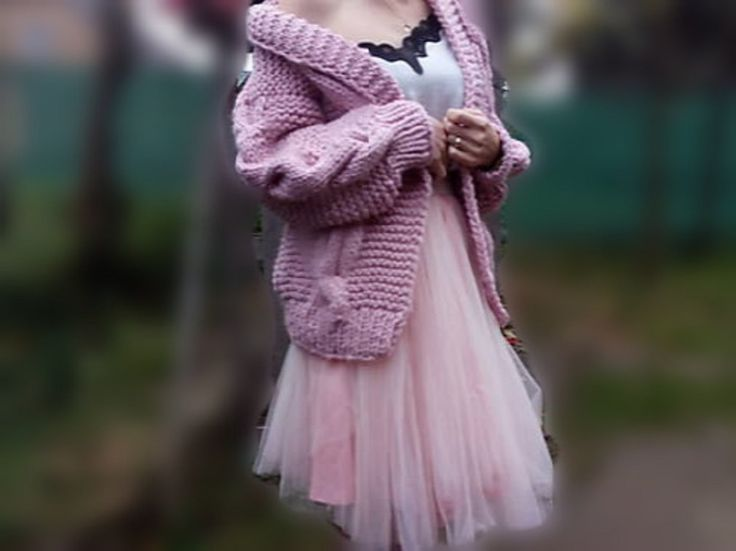 womens handknit romantic pink cardigan, for sell, on etsy