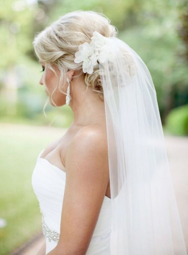 wedding hairstyles for long hair updo with veil hairstyles #WeddingVeils #StylesBridalHairstyles