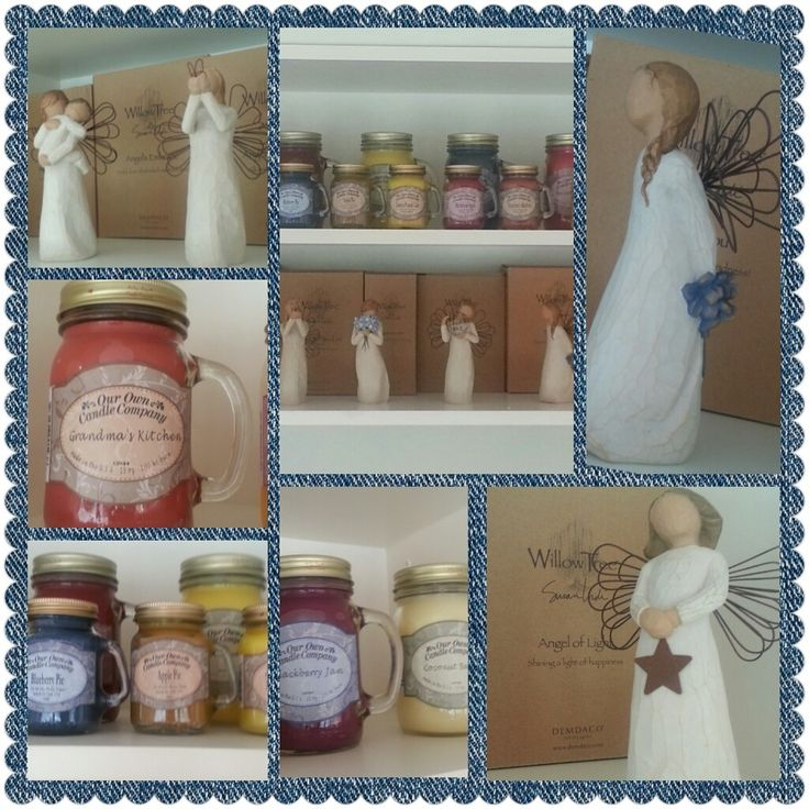 Calandra Chocolat'a melekler ve mumlar geldi.. #willowtree #ourowncandle #angel #susanlordi #applepie #blueberrypie #grandma'skitchen #coconut #jam