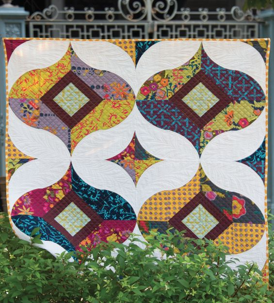 Moroccan Vibe quilt, in:  One Wonderful Curve by Sew Kind of Wonderful.  Laundauer publishing.