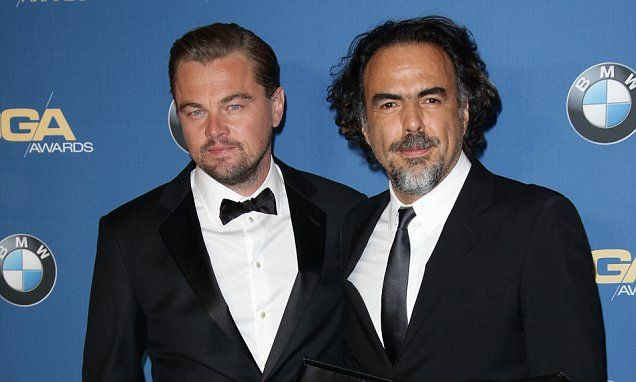 Leo supports The Revenant director Alejandro Inarritu at DGA Awards