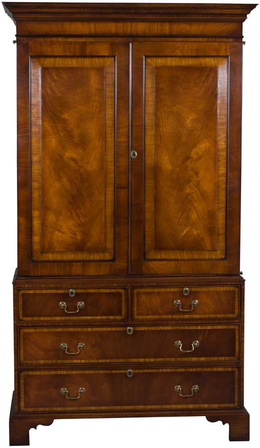 a stunning mahogany linen cabinet that can be used as a tv cabinet and has a